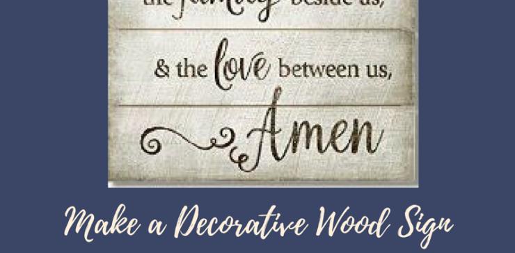 Create a Decorative Wood Sign